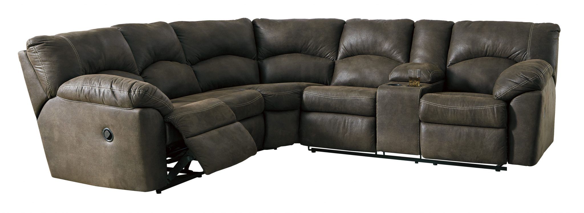 a light gray sectional