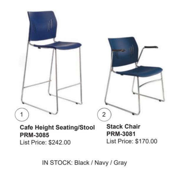 Blue Premiera Bar Height Chair