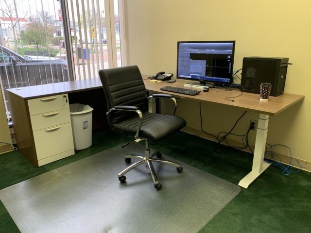 L-Shape Electric Base Desk