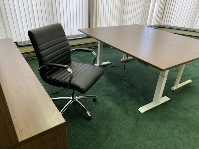 Executive Desk with Electric Base