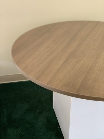 Round Table with Square Base