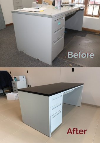 Before and After Single Desk